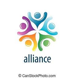 logotipo, aliança, human