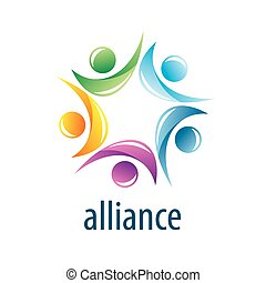 logotipo, alianza, humano