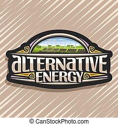 logotipo, alternativa, vetorial, energia
