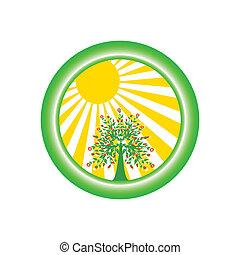 logotipo, ambiental