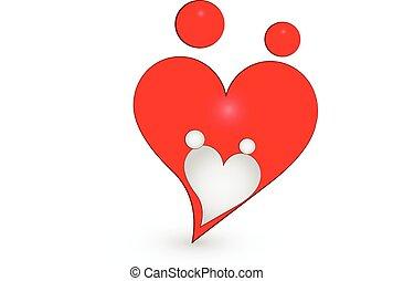 logotipo, amor, família