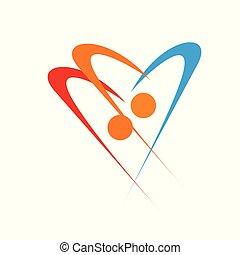 logotipo, amor, pessoas