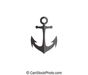 logotipo, ancorare, sagoma