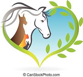 logotipo, animales, mascotas