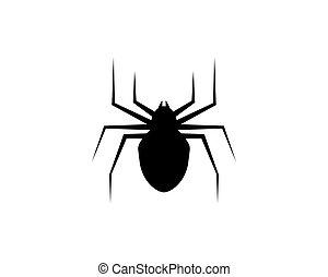 logotipo, araña, plantilla