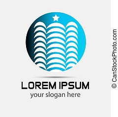 logotipo, arranha-céu