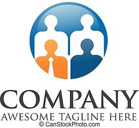 logotipo, assunzione personale, persone