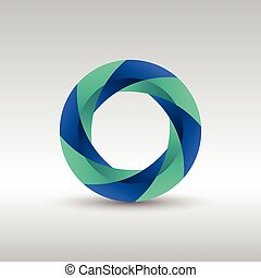 logotipo, astratto, 3d, cerchio, icona