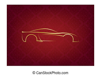 logotipo, astratto, calligraphic, automobile
