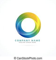 logotipo, astratto, cerchio, colorito