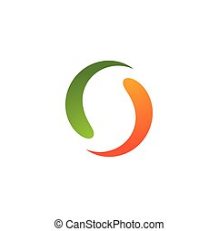 logotipo, astratto, cerchio