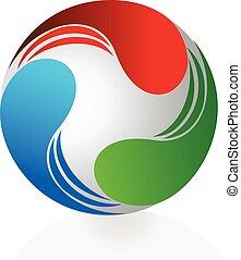 logotipo, astratto, dinamic, affari