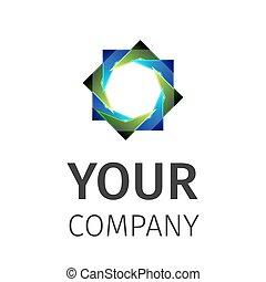 logotipo, astratto