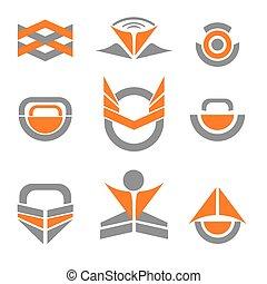 logotipo, astratto, elementi, disegno, icona