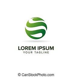 logotipo, astratto, foglia, globo, creativo