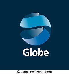 logotipo, astratto, globo