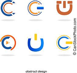 """logotipo, astratto, iniziale, """"c"""""""