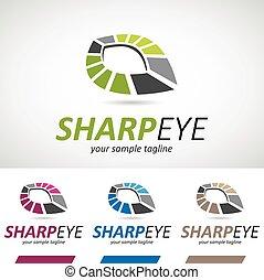 logotipo, astratto, occhio, geometrico, icona