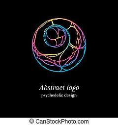logotipo, astratto, psichedelico