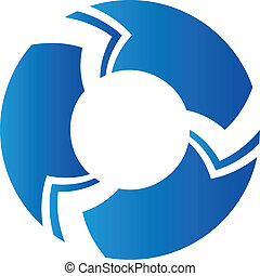 logotipo, astratto, sagoma