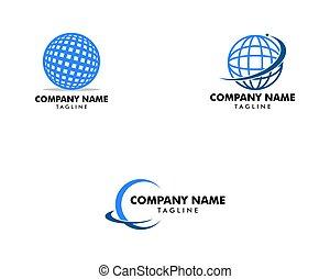 logotipo, astratto, set, globo