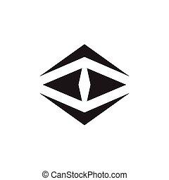 logotipo, astratto, vettore, polygonal