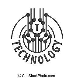 logotipo, astratto, vettore, tecnologia, scheggia