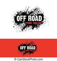 logotipo, automotor, del camino
