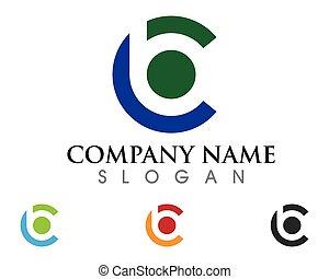 logotipo, b, carta