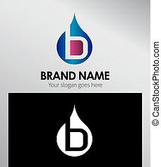 logotipo, b, letra