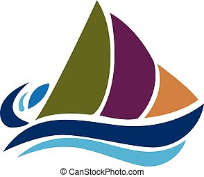 logotipo, barca