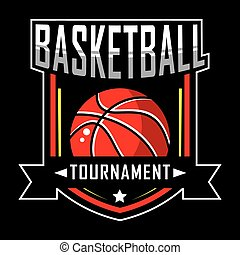 logotipo, basquetebol