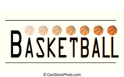 logotipo, basquetebol, esportes