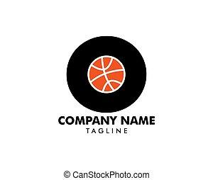 logotipo, basquetebol, este prego, letra, modelo