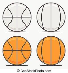 logotipo, basquetebol, seu, bolas, equipe