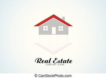 logotipo, bens imóveis, casa