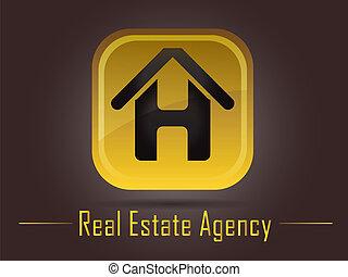 logotipo, bienes raíces, agencia