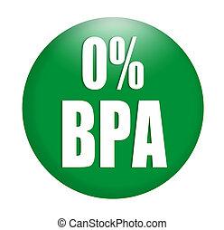 logotipo, bisphenol, anti, (bpa), sinal
