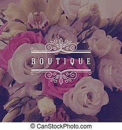 logotipo, boutique, plantilla