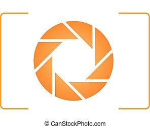 logotipo, cámara
