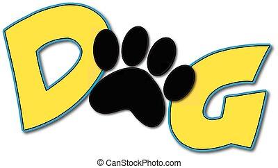 logotipo, cão