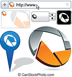 logotipo, círculo, resumen, empresa / negocio, design.