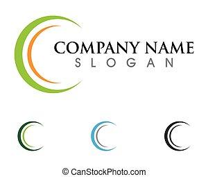 logotipo, c, carta