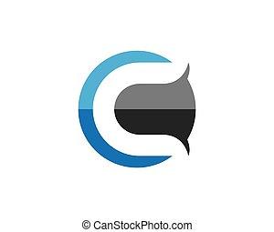 logotipo, c, lettera