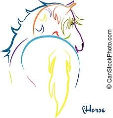 logotipo, caballo