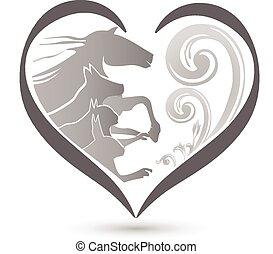logotipo, caballo, perro, conejo, gato