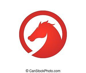 logotipo, caballo, plantilla