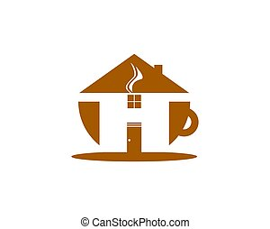 logotipo, café, café, desenho, modelo