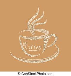 logotipo, caffè, disegno