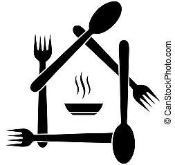 logotipo, caffè, o, ristorante